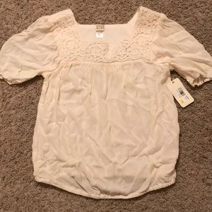 Girls, short sleeve shirt, size XL/16